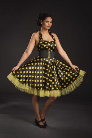 Fekete-sárga női rocky ruha - Szalagavató Központ