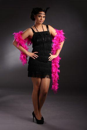Női fekete charleston ruha - Szalagavató Központ