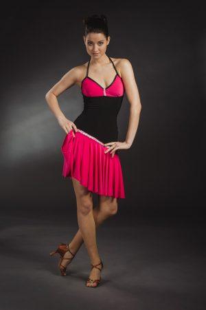 Pink-fekete latin táncruha - Szalagavató Központ
