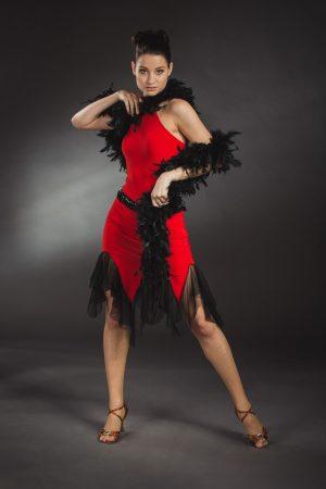 Piros latin táncruha - Szalagavató Központ