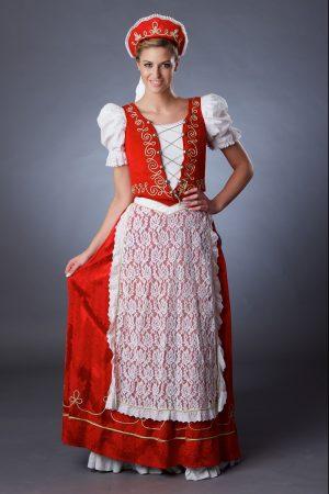 Piros palotás ruha női - Szalagavató Központ